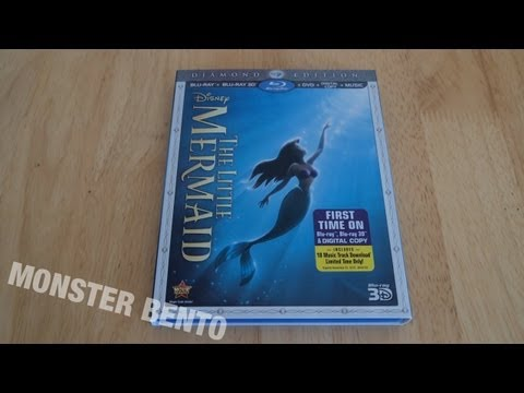 disney-the-little-mermaid-diamond-edition-blu-ray-3d-|-dvd-|-digital-copy-unboxing-&-review