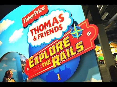Thomas & Friends EXPLORE THE RAILS Fisher Price Exhibit Discovery Cube Orange County