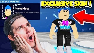 J'ai un SKIN EXCLUSIVE RUSSOPLAYS dans FORTNITE BATTLE ROYALE SIMULATOR!! (Roblox)