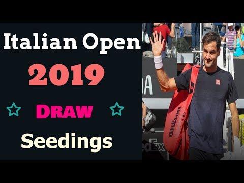 Italian Open 2019 Draw. Rome Masters 2019/Italian Open Tennis 2019 Seedings.