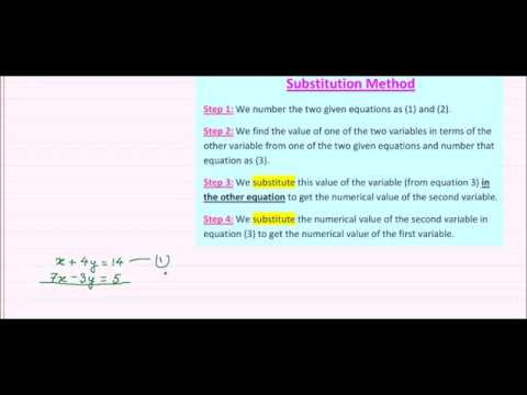 Online Math Tutoring ---- Solving of Simultaneous Linear Equations ...
