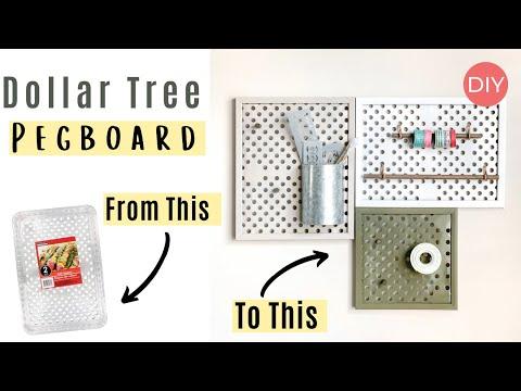 DOLLAR TREE Pegboard DIY | Must See DIY 😱 |  Ashleigh Lauren