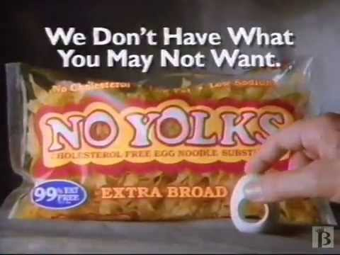 No Yolks Pasta Commercial 1997