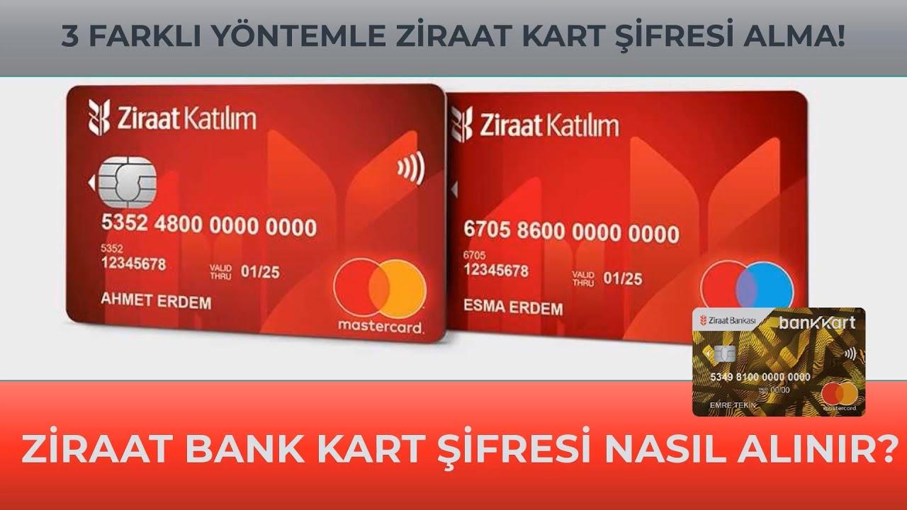 Ziraat Bankası Kart Şifresi Nasıl Alınır? Ziraat Kart Şifresi Değiştirme! Bankamatik Şifre Alma