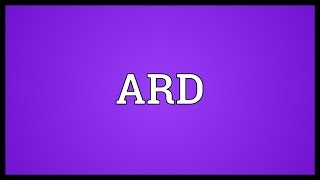 Ard meaning