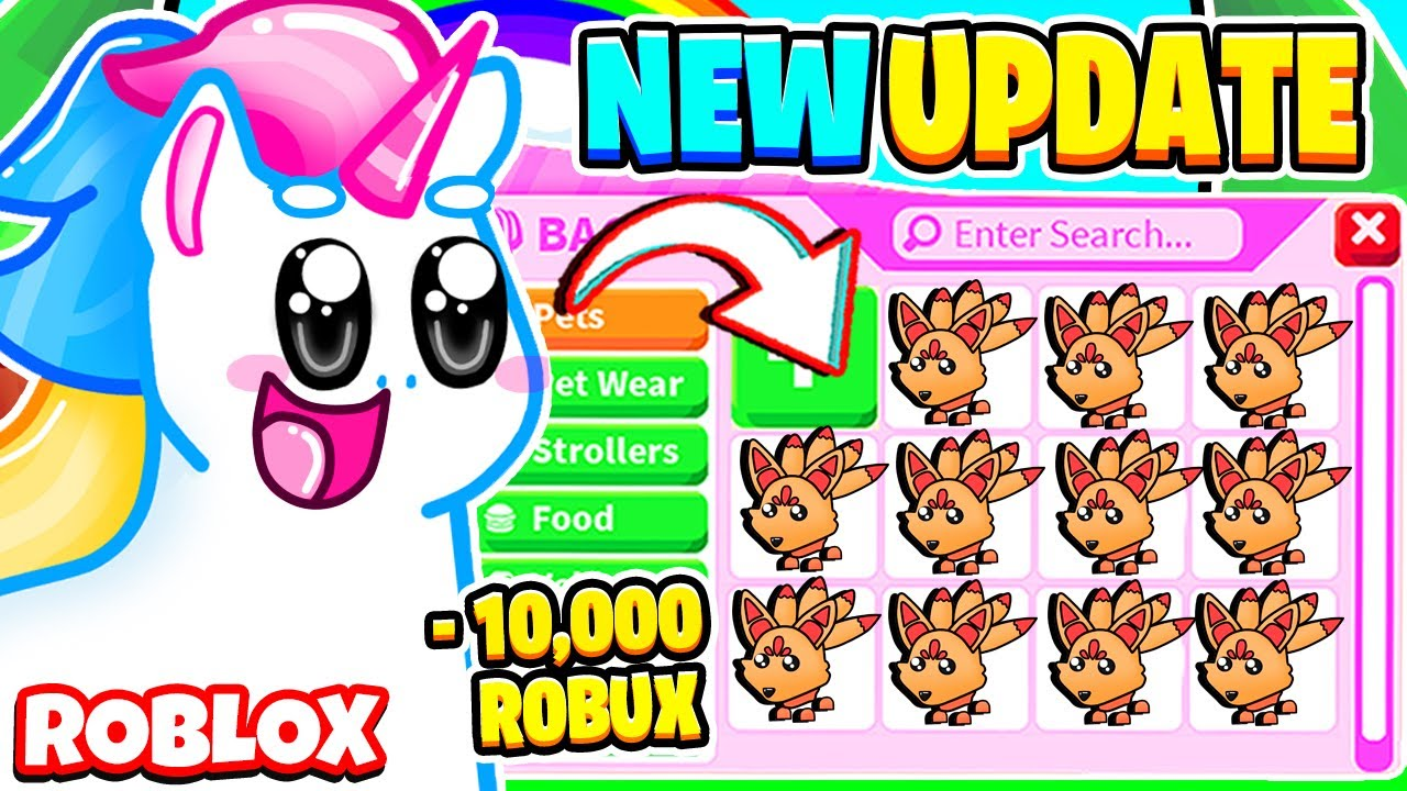 SPENDING 10,000 ROBUX ON THE *NEW* KITSUNE PET IN ADOPT ME! Roblox Adopt Me Update
