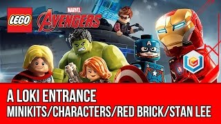 LEGO Marvel's Avengers A Loki Entrance Walkthrough (All Minikits, Red Brick, Stan Lee)