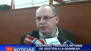 Guerrero presenta informe de gestión a la asamblea