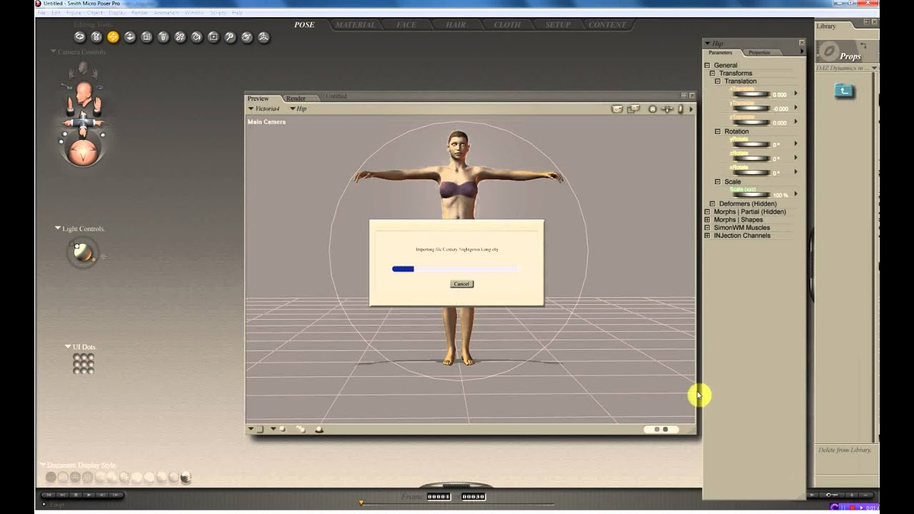 introduccion a poser 8 software para crear personajes 3d