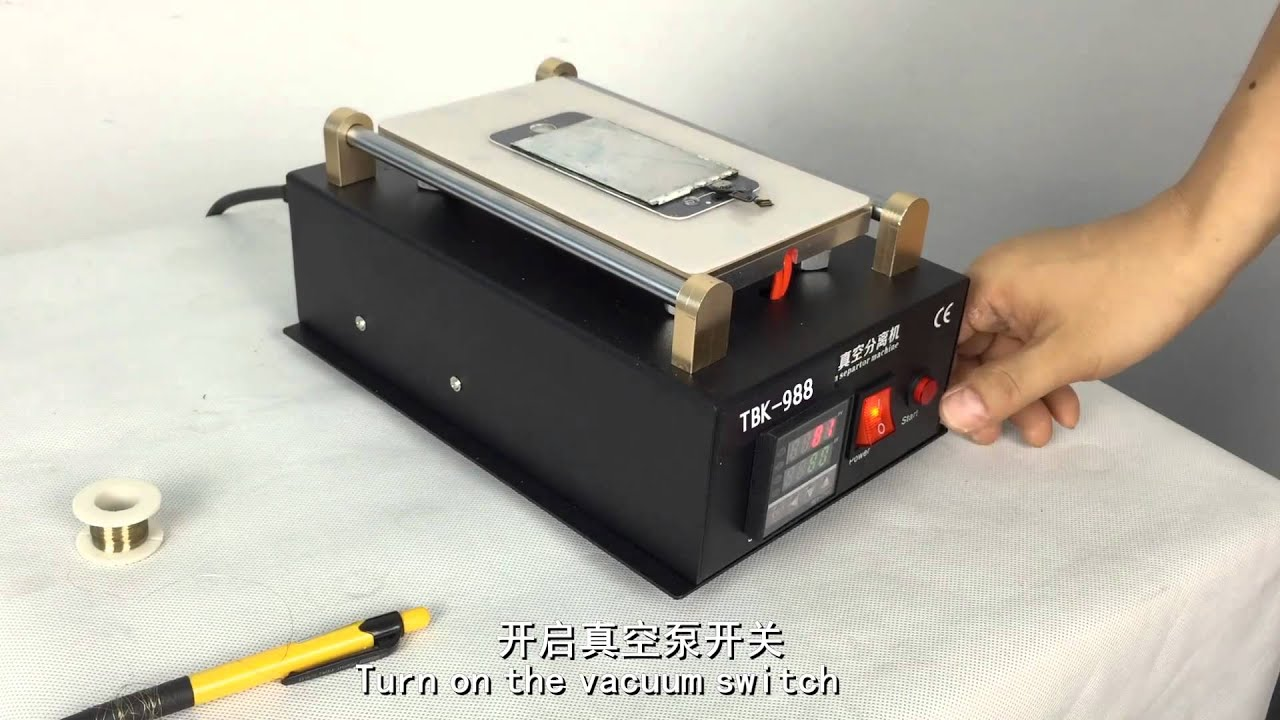 Manual Separator Lcd Touch Screen Separating Machine With Built In Schematic Diagram Was Created For Installing The Vacuum Pump Mobile Phone