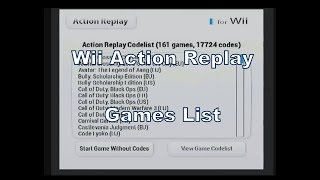 Action Replay (Cheat SD Card/Disc) for the Nintendo Wii Games List :D