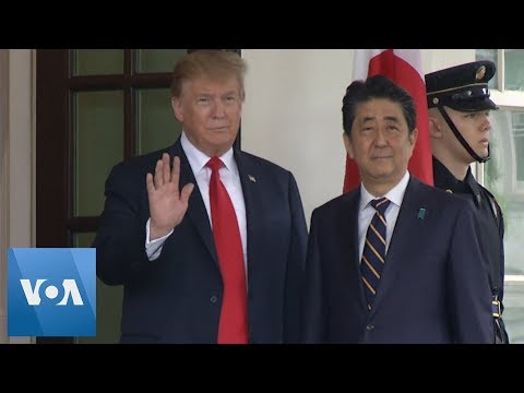 Trump Welcomes Japanese PM Shinzo Abe to the White House