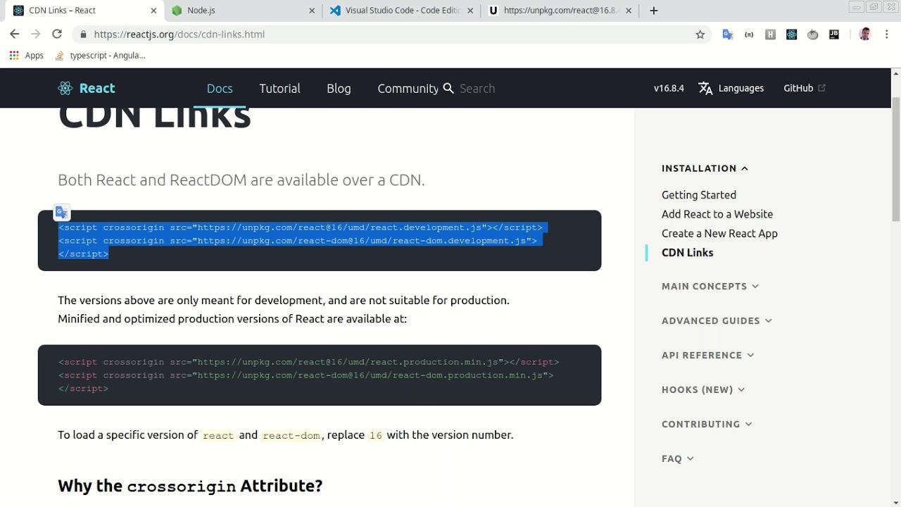 #2 - Curso de React + Redux / Rodar o React com um arquivo index html