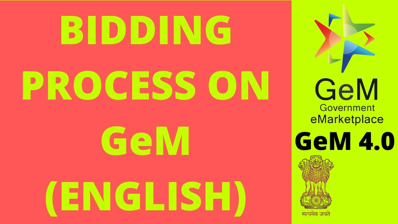 GeM 3 0 Bidding Process (Monkenstein Services)