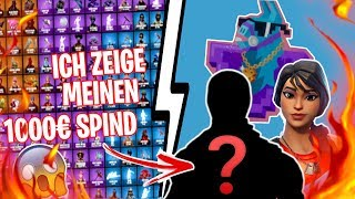 MY XXL 1000€ FORTNITE SPIND !!! 😱 ALL MY SKINS 🎃😂 - Fortnite Battle Royale