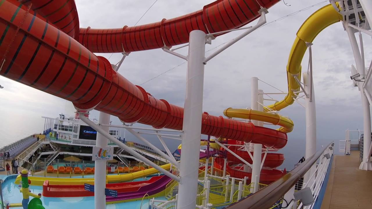 carnival vista waterslides youtube