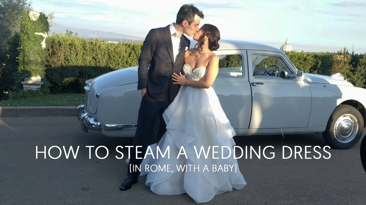How to steam a wedding dress youtube how to steam a wedding dress ombrellifo Image collections