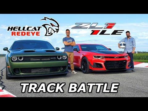2019 Dodge Hellcat Redeye vs Chevy Camaro ZL1 1LE – DRAG RACE & LAP TIMES