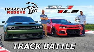 Download 2019 Dodge Hellcat Redeye vs Chevy Camaro ZL1 1LE - DRAG RACE & LAP TIMES Mp3 and Videos