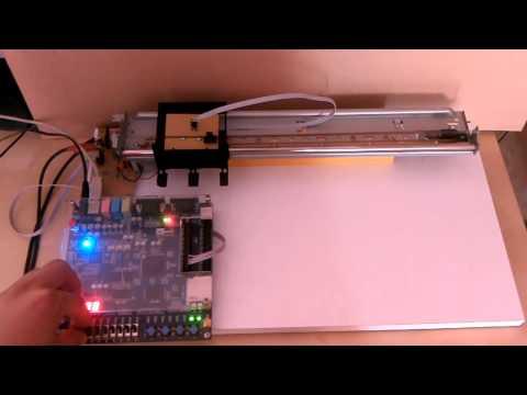 Altera DE1 Cyclone II servo, PI regulator, FPGA
