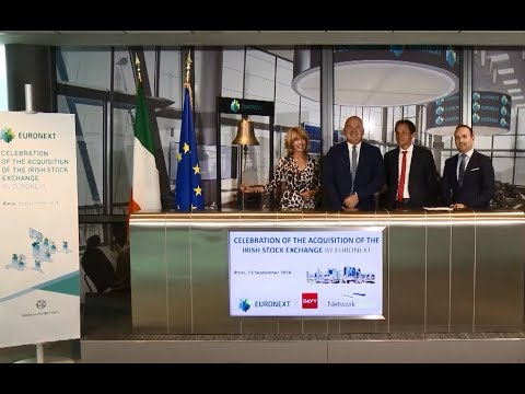 Celebration of the acquisition of the Irish Stock Exchange by Euronext