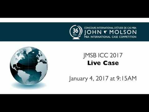 John Molson MBA International Case Competition 2017 - Live Case