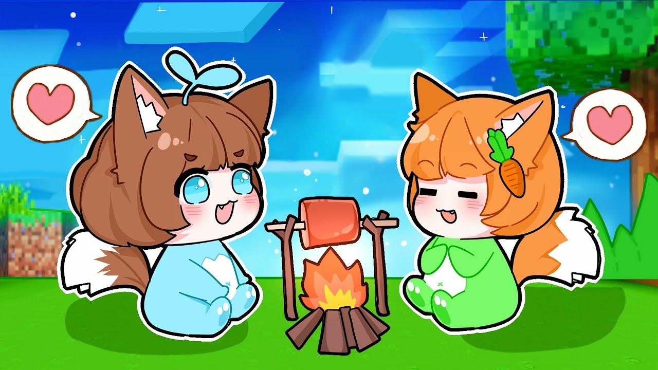 Mèo Simmy Cùng Chị Kamui Hóa Thành 🍼 Em Bé Ma Sói 🍼 Siêu Đáng Yêu Trong Mini World