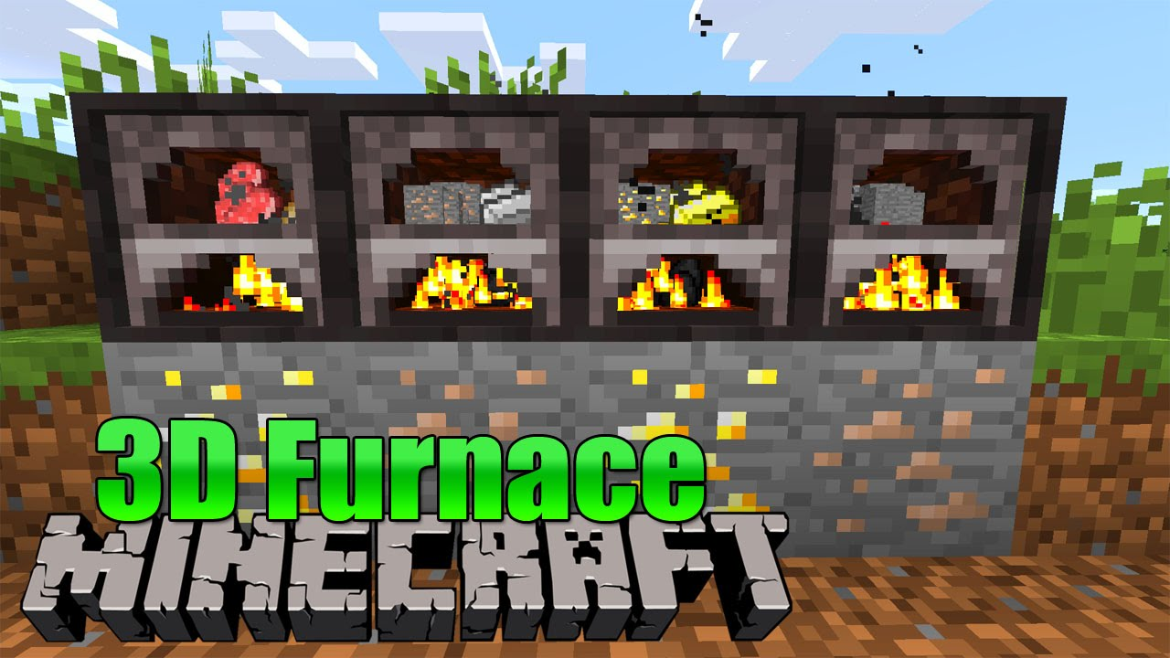 mine craft video 3d furnace minecraft mod review 2463