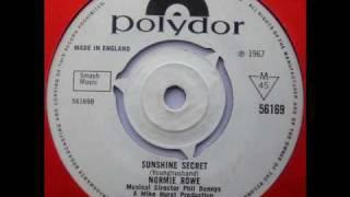 NORMIE ROWE Sunshine Secret. 1967 uk Polydor Popsike.