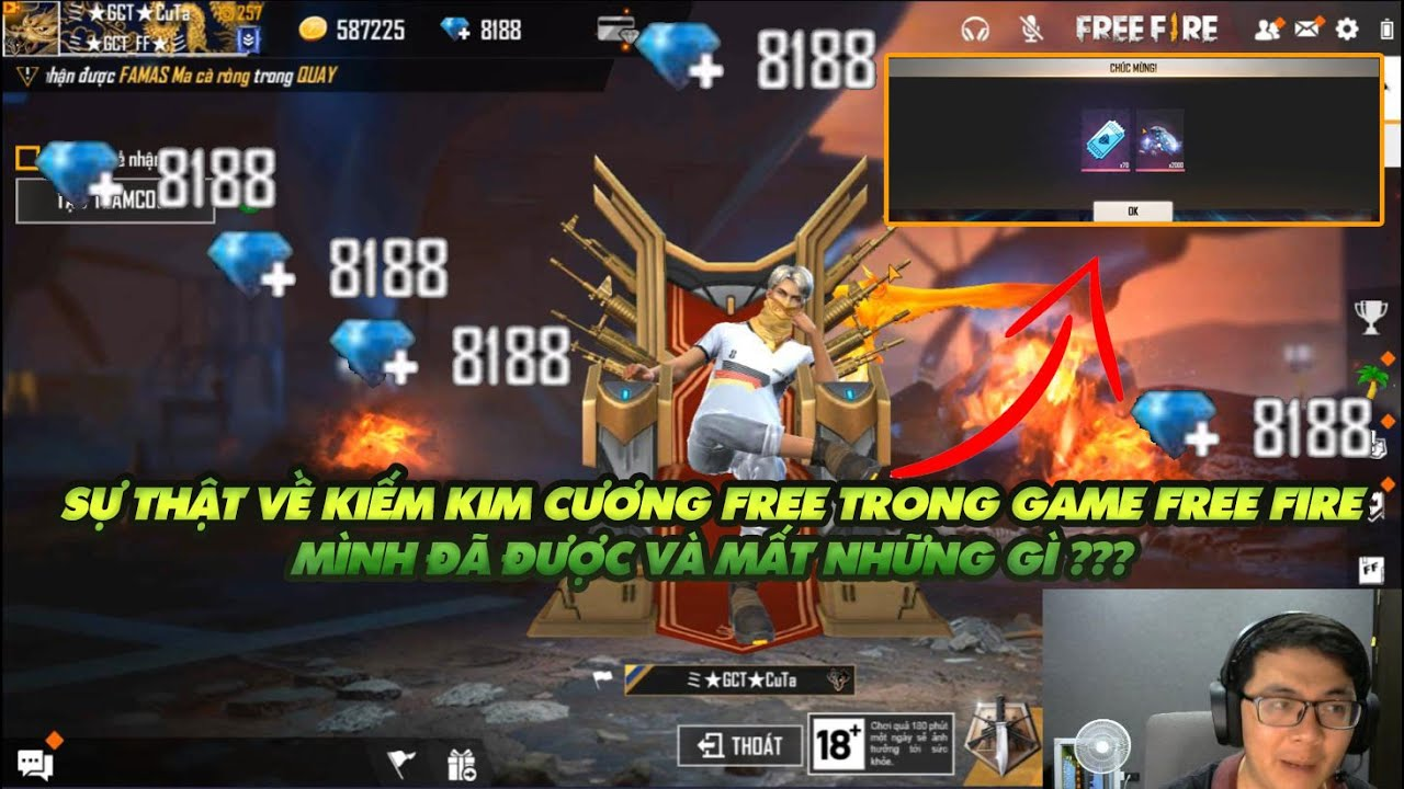 Garena Free Fire  Sự thật về cách kiếm kim cương Free trong game Free Fire !!!