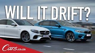 Will It Drift? BMW M5 vs Mercedes E63S