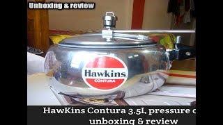 Hawkins contura 3.5L pressure cooker unboxing and rivew