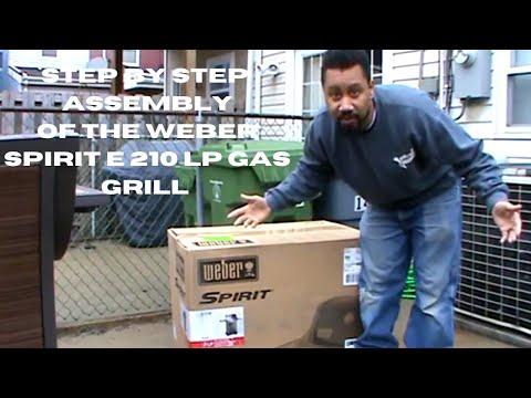How to assemble the Weber Spirit E 210 lp gas grill