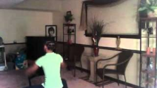 "My Sister Dancing to Janet Jackson ""Miss You Much"""