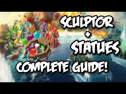Boom Beach - UPDATED - Complete Statue Guide! Sculptor, Masterpiece Tips & Tutorial For Boom Beach!