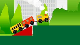 Ciuchcia, pociag. Bajka, animacja i gra dla dzieci i niemowlat