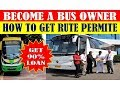 BECOME A BUS OWNER || HOW TO GET RUTE PERMITE || FULL APPLY PROCESS || By BizChampion