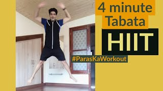 4 Minute HIIT Tabata for Belly fat