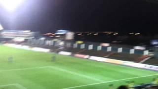 Bradford city massive support at oldham