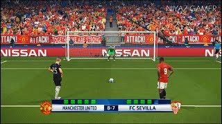 MANCHESTER UNITED vs SEVILLA | UEFA Champions League UCL | Penalty Shootout | PES 2018 Gameplay PC