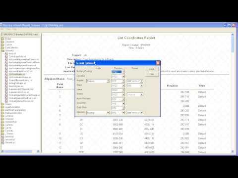 InRoads XML Report V85