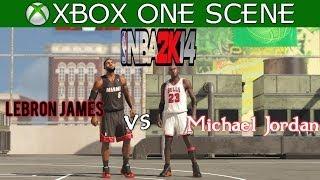 NBA 2k14: Next Gen - Lebron James vs Michael Jordan 1 on 1 Blacktop   PS4