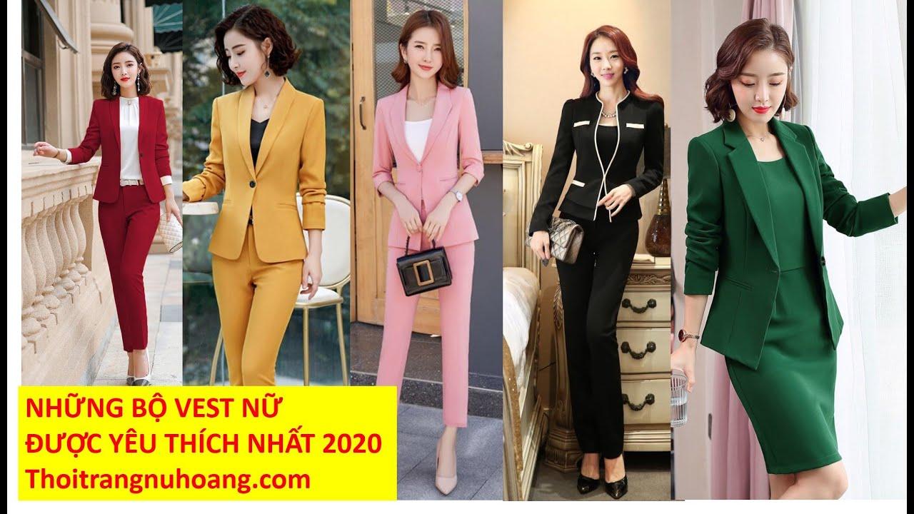30 Bộ Vest Nữ đẹp trẻ trung thanh lịch| Đầm vest nữ công sở, bộ vest nữ quần ngắn, dài mẫu mới 2020