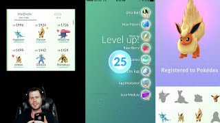 Pokemon GO: Level 25 Evolving High Level Combat Power Eevee and Drowzee