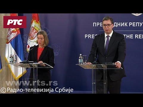 Vučić sa Mogerinijevom: Kosmet najvažnije pitanje