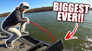 The BIGGEST FISH OF HIS LIFE Pulled From the DEPTHS!! (INSANE)
