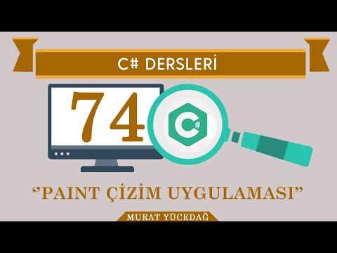 C# Ders 74 Paint Çizim Uygulaması