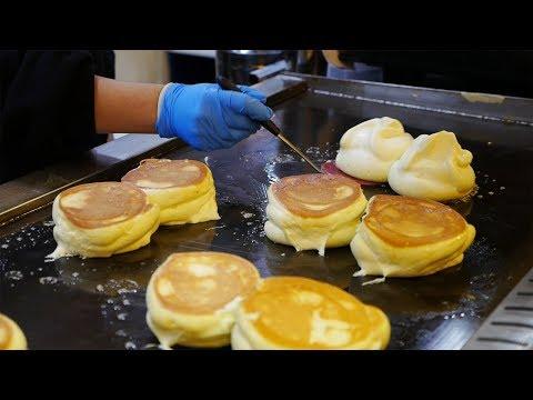 강남역 맛집 촉촉한 수플레 팬케이크 / 길거리 음식/ Gangnam Style Souffle Pancake / Street Food in Korea