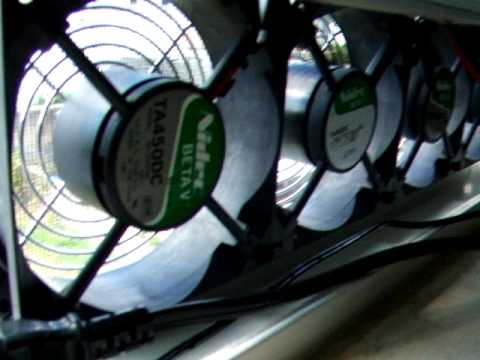 4 Nidec Beta V server fans used as window fans