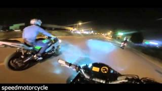 police chase motorcycle illegal street race running from cop vs bike 2016